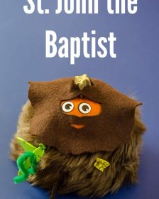 Pumpkin dressed as saint john the baptist All Saints Day Craft ideas