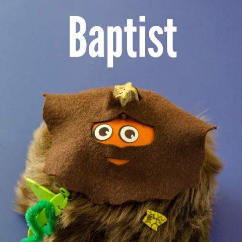 Pumpkin dressed as saint john the baptist All Saints Day Craft ideas