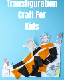 Transfiguration craft for kids, an easy craft for preschoolers for Sunday school
