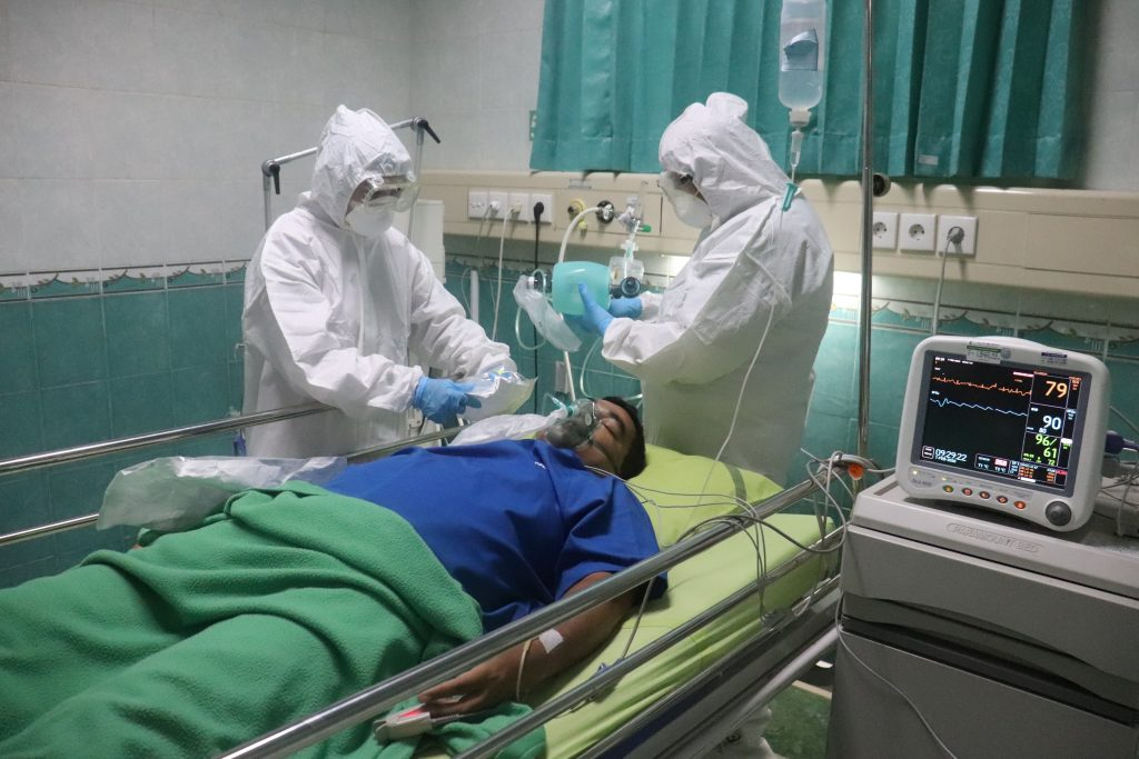 patient being treated in hospital